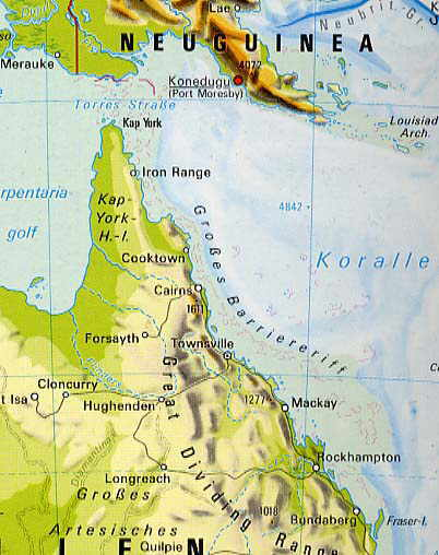 Great Barrier Reef Karte.Www Australiapics Com Great Barrier Reef